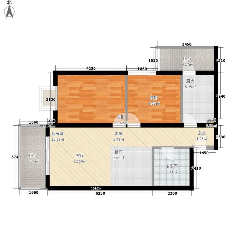 金鸟花园75.00㎡金鸟花园2室户型2室