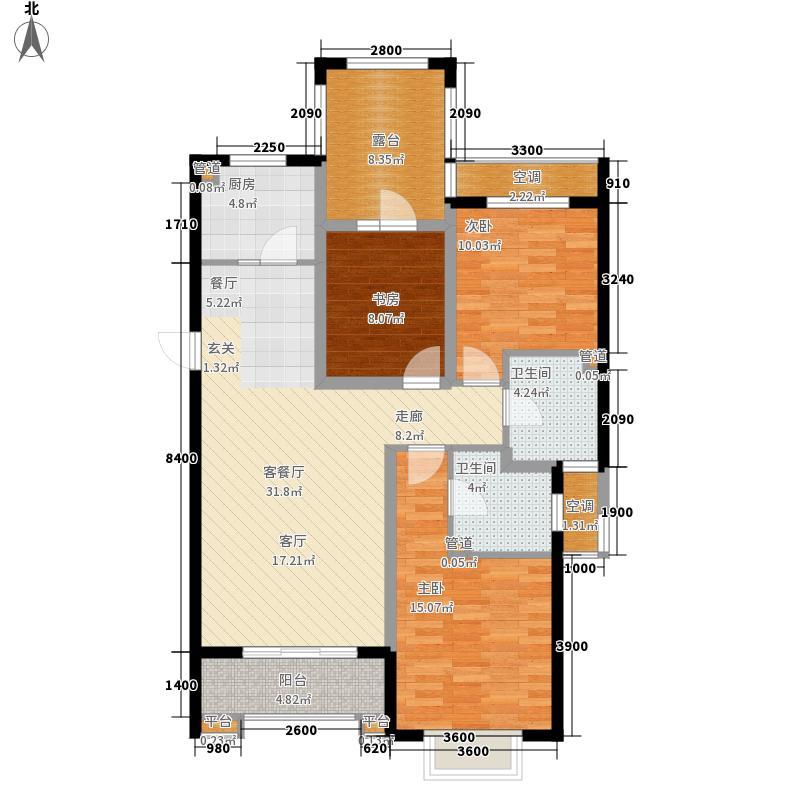 富立秦皇半岛122.48㎡C2-C1户型3室2厅