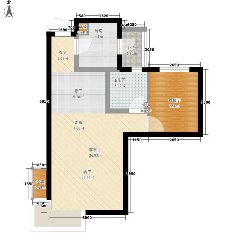 富立秦皇半岛65.89㎡C4-2户型1室2厅