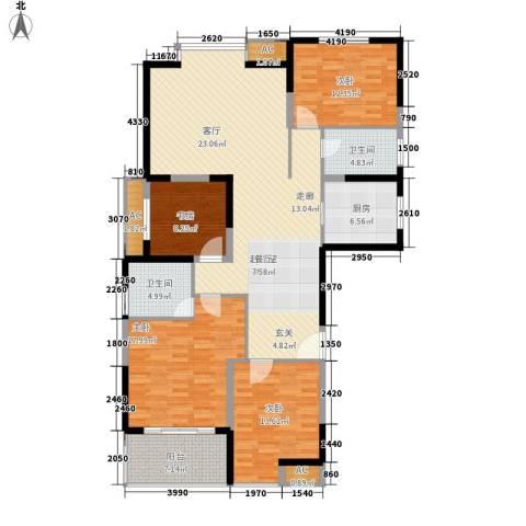 江南经典花园4室0厅2卫1厨140.00㎡户型图