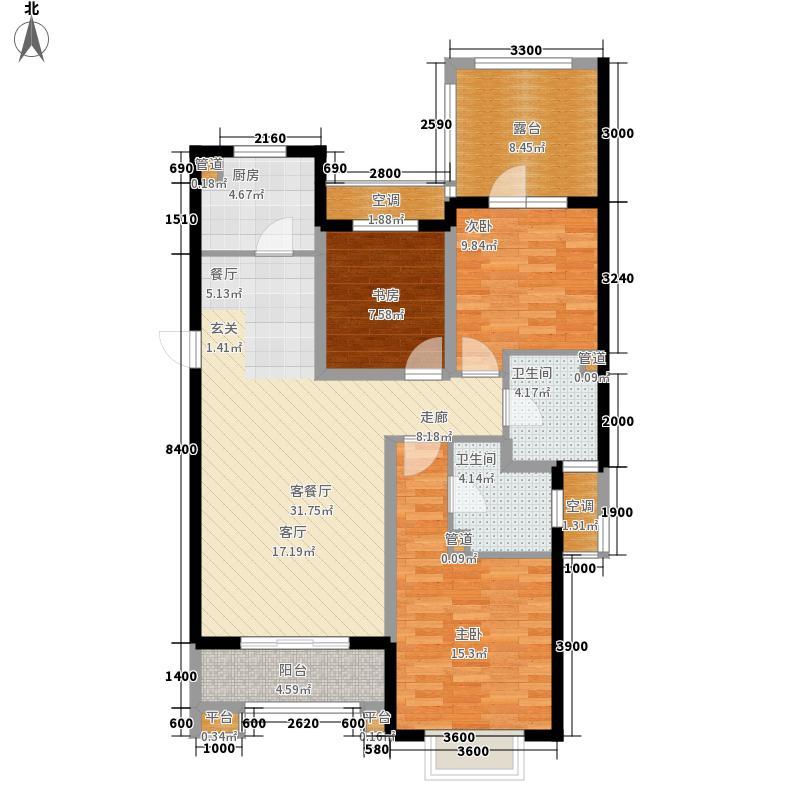 富立秦皇半岛122.48㎡C2-33户型3室2厅