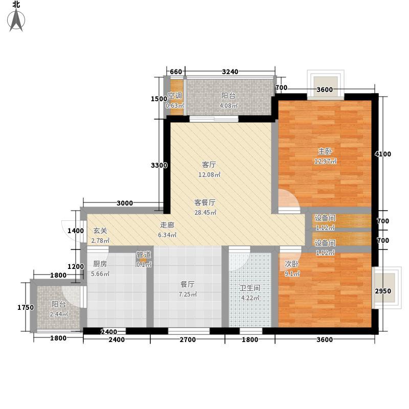 海龙居77.81㎡1号楼45号2面积7781m户型