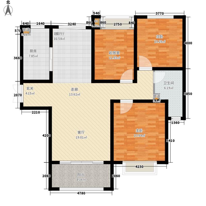 四建美林苑131.95㎡四建美林苑户型图标准层A2户型3室2厅1卫1厨户型3室2厅1卫1厨