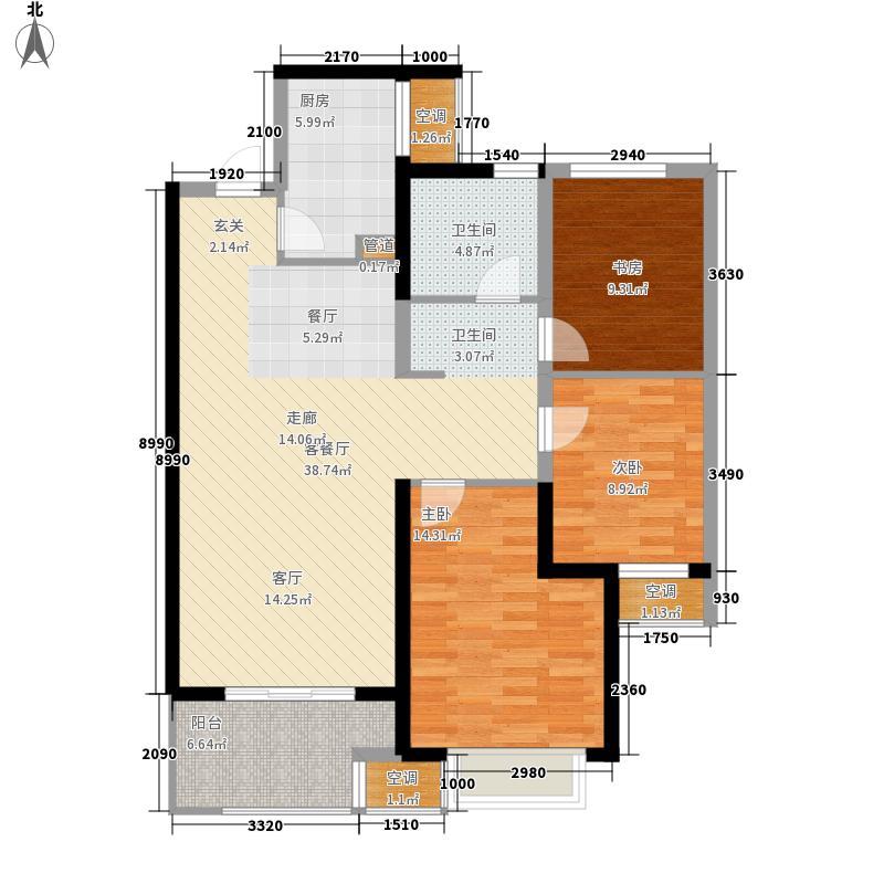 无锡万达文化旅游城102.00㎡户型3室2厅