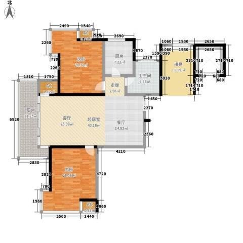 华韵花园别墅2室0厅1卫1厨162.00㎡户型图