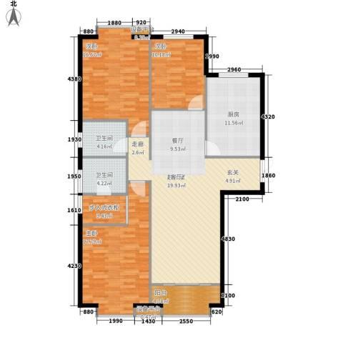 蓝色理想3室0厅2卫1厨146.00㎡户型图