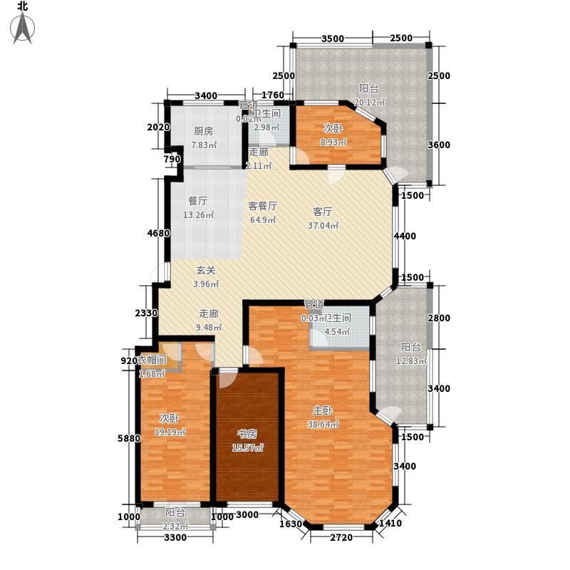 合庆东紫园214.00㎡B12户型4室2厅