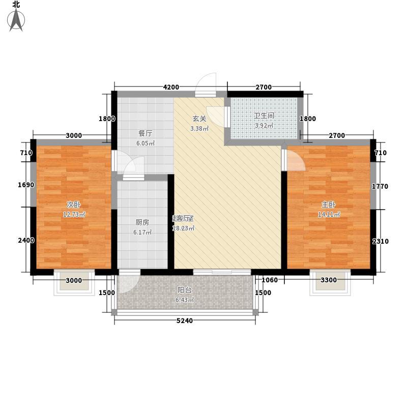 虹畔馨苑105.23㎡7号楼02单元2室面积10523m户型