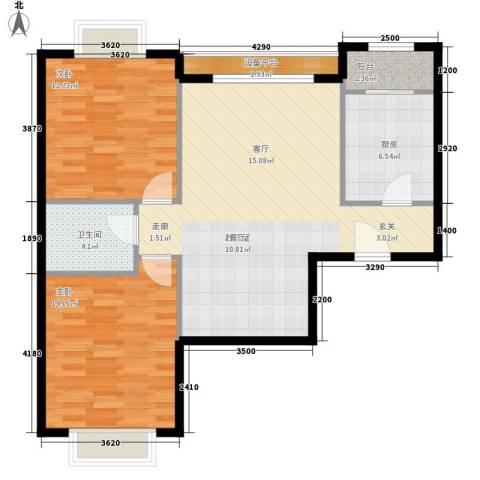 蓝色理想2室0厅1卫1厨95.00㎡户型图