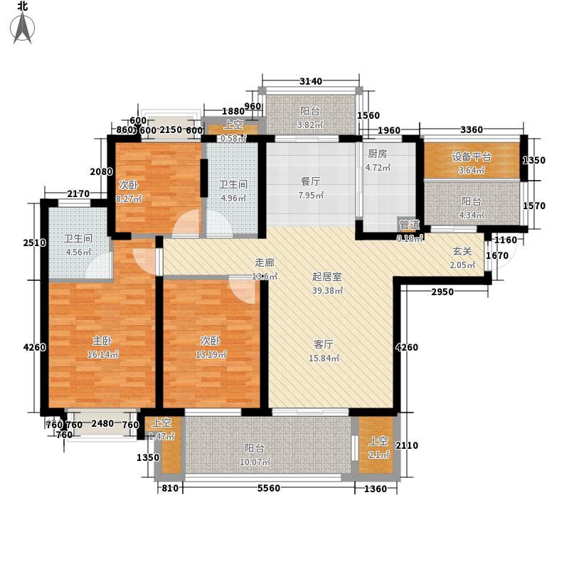 骏和棕榈湾136.08㎡骏和棕榈湾户型图F1户型3室2厅2卫1厨户型3室2厅2卫1厨