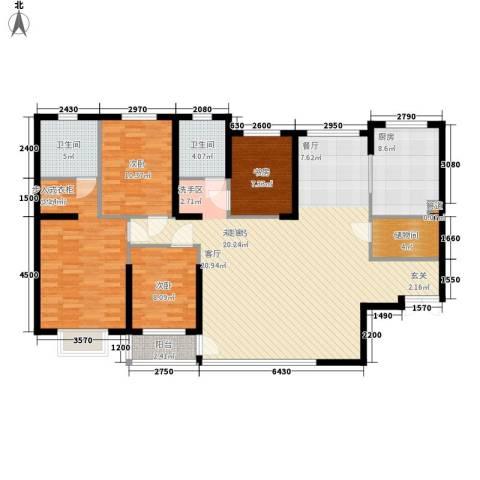 车站西街工行家属楼4室0厅2卫1厨170.00㎡户型图