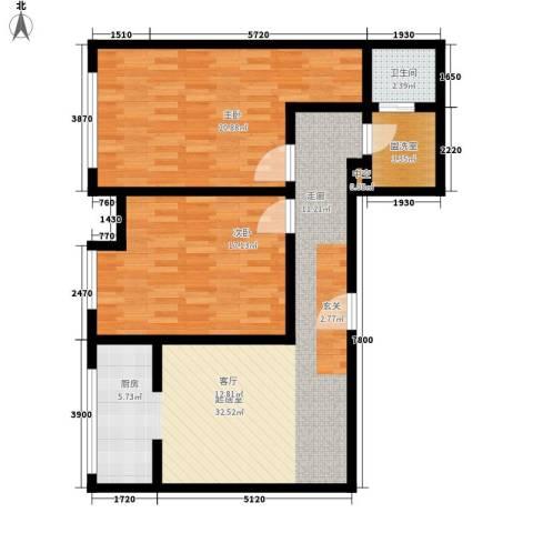 唯C商务广场2室0厅1卫0厨126.00㎡户型图