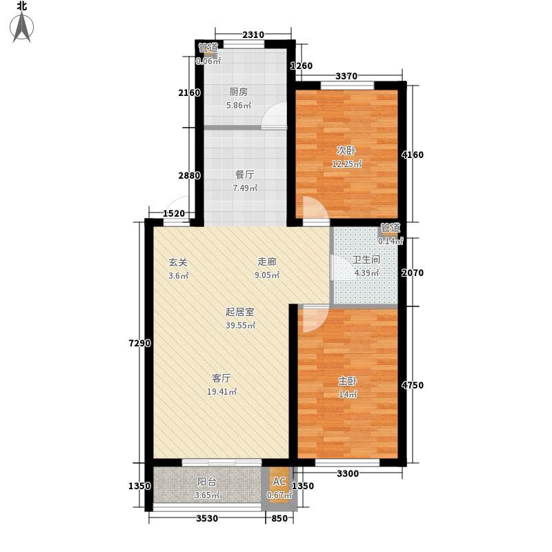 爵仕观邸91.00㎡爵仕观邸户型图92室2厅1卫户型2室2厅1卫