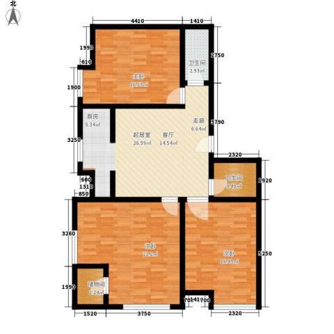 唯C商务广场3室0厅2卫0厨153.00㎡户型图