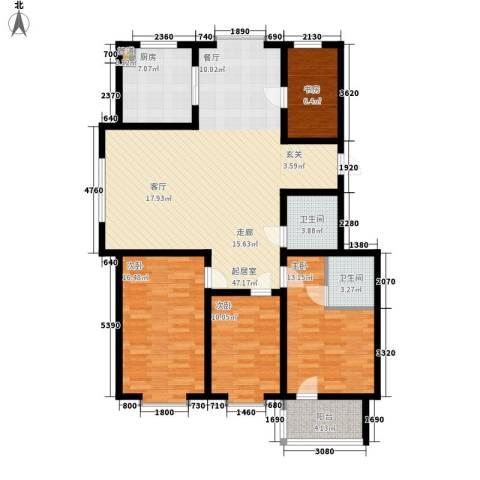 贵和花园三期4室0厅2卫1厨127.00㎡户型图