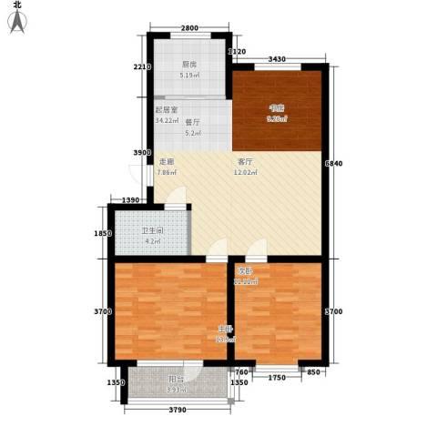 贵和花园三期2室0厅1卫1厨82.00㎡户型图