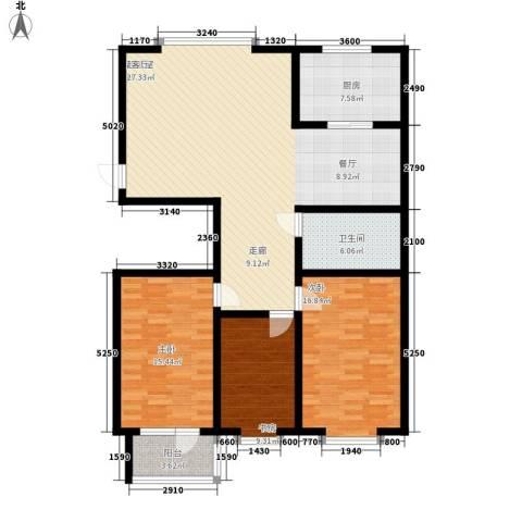 贵和花园三期3室0厅1卫1厨118.00㎡户型图
