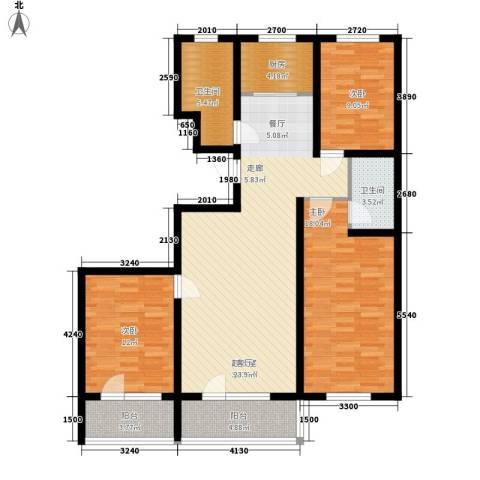 贵和花园三期3室0厅2卫1厨138.00㎡户型图