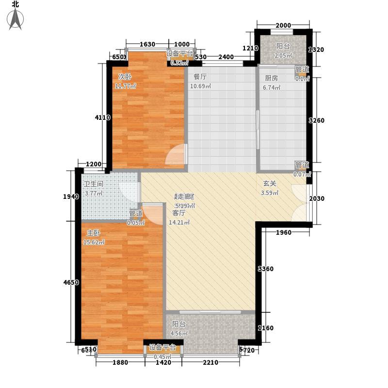蓝色理想115.39㎡蓝色理想户型图4#楼1单元01户型2室2厅1卫1厨户型2室2厅1卫1厨
