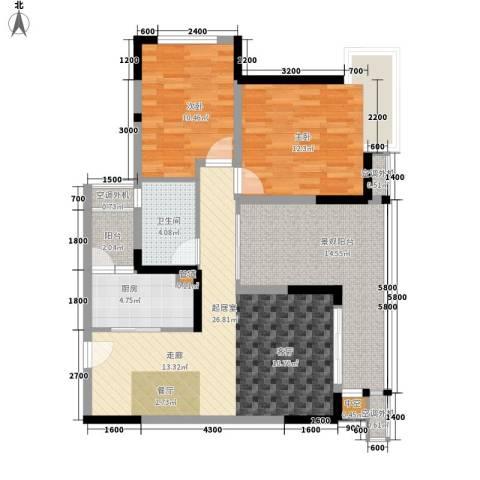 北回归线2室0厅1卫1厨77.41㎡户型图