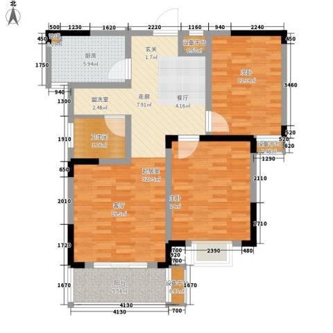 好运理想城2室0厅1卫1厨89.00㎡户型图