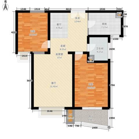 中天汇丽华城2室0厅1卫1厨113.00㎡户型图