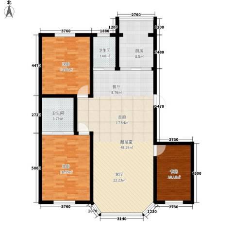钻石礼都3室0厅2卫1厨130.00㎡户型图