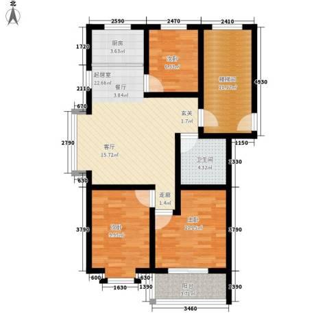 温阳海港城3室0厅1卫1厨84.00㎡户型图