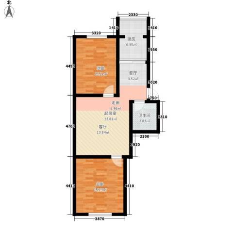 钻石礼都2室0厅1卫1厨75.00㎡户型图