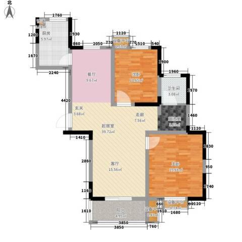 好运理想城2室0厅1卫1厨95.00㎡户型图