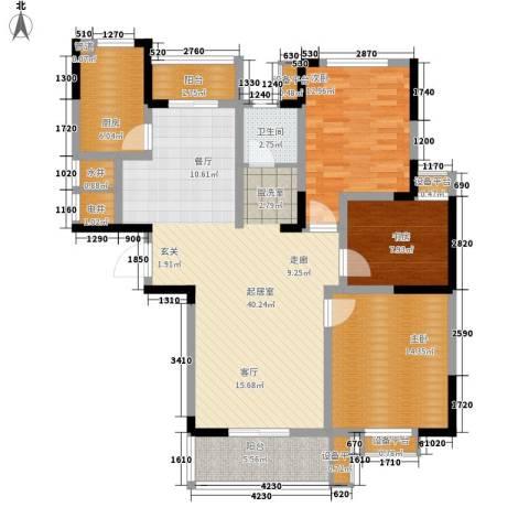 好运理想城3室0厅1卫1厨113.00㎡户型图