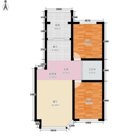 钻石礼都2室0厅1卫1厨90.00㎡户型图