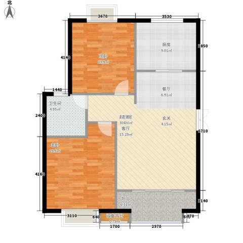 蓝色理想2室0厅1卫1厨93.00㎡户型图