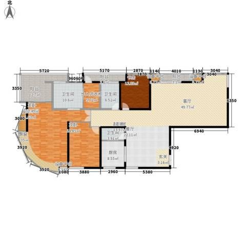 三箭如意苑3室0厅3卫1厨283.00㎡户型图