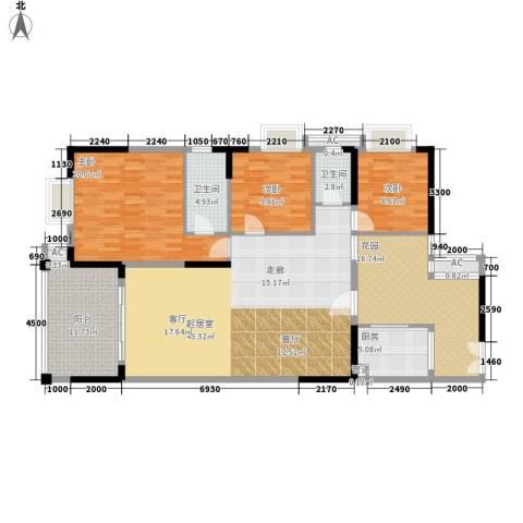 威斯登堡3室0厅2卫1厨150.00㎡户型图