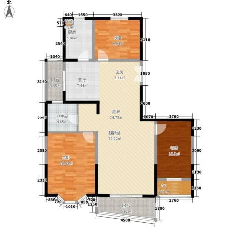 黄兴绿园3室0厅1卫1厨150.00㎡户型图