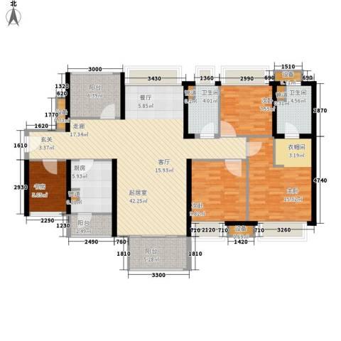 中信凯旋城4室0厅2卫1厨132.00㎡户型图