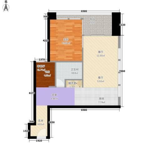 悉尼绿地中心1室1厅1卫0厨73.00㎡户型图