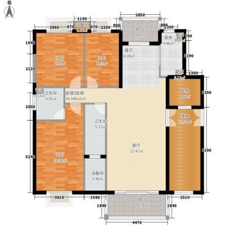 兴隆中泰广场3室0厅2卫1厨133.20㎡户型图