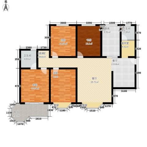 上城公馆4室0厅2卫1厨204.00㎡户型图