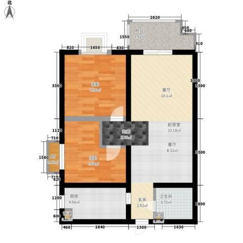 凯悦华庭2室0厅1卫1厨81.00㎡户型图
