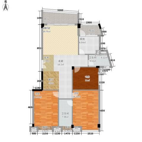 世纪康城3室0厅2卫1厨137.00㎡户型图