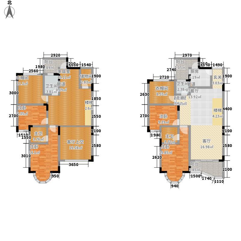 卧龙山庄219.82㎡卧龙山庄户型图5号楼11-12跃层户型10室