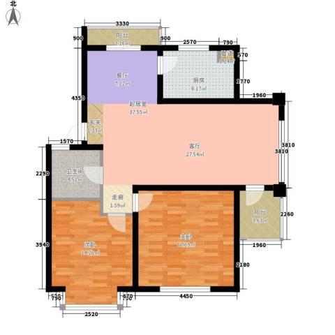 在水一方2室0厅1卫1厨102.00㎡户型图