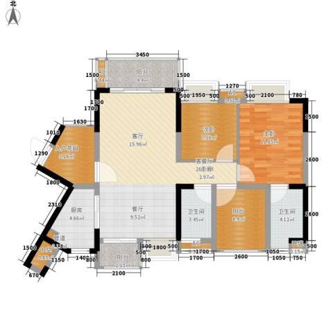 星河盛世2室1厅2卫1厨94.79㎡户型图