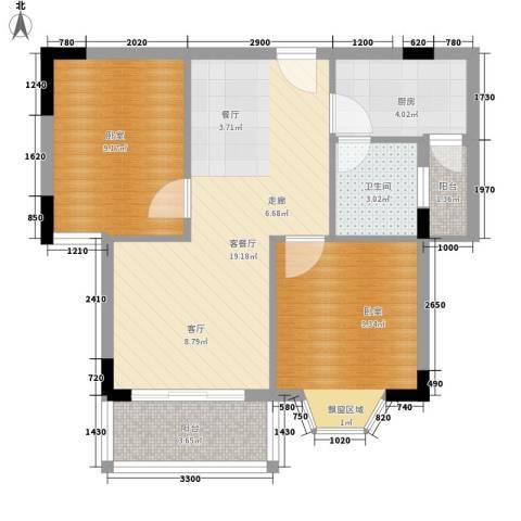 鑫汇苑小区1厅1卫1厨97.00㎡户型图
