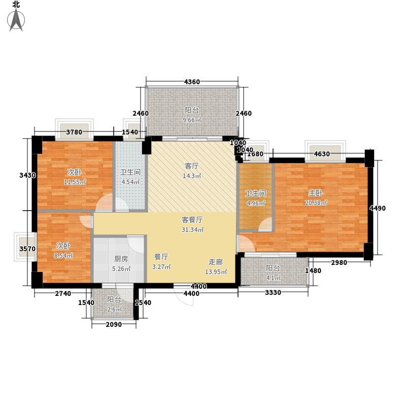 喜联大厦115.60㎡喜联大厦户型图A座03单位3室2厅2卫1厨户型3室2厅2卫1厨
