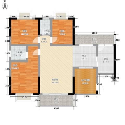 恒远帝都新城3室0厅2卫1厨141.00㎡户型图