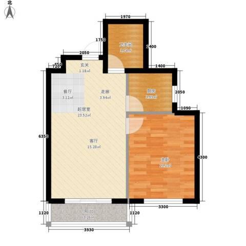 湖岸新城1室0厅1卫1厨54.00㎡户型图