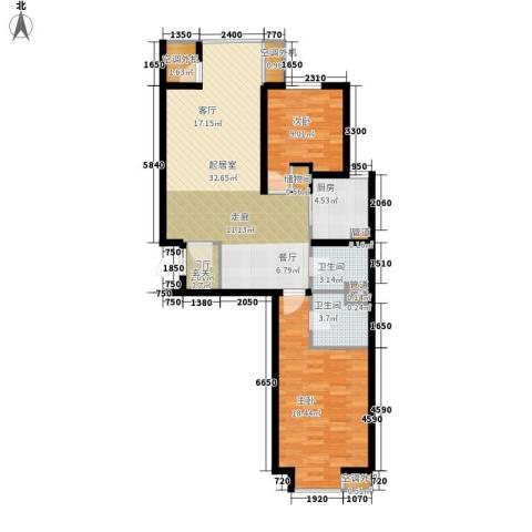 中基礼域2室0厅2卫1厨103.00㎡户型图